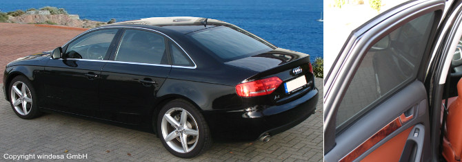 sonniboy auto sonnenschutz audi a4 limousine b8 8k ebay. Black Bedroom Furniture Sets. Home Design Ideas